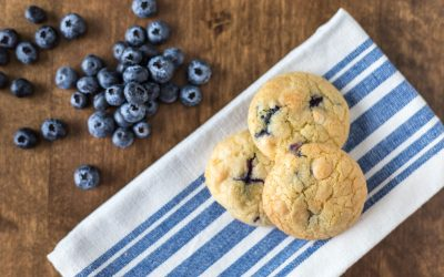 Cherry, Blueberry and White Chocolate Cookies